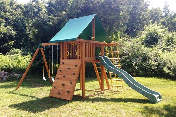 Best In Backyards Elmsford Ny westchester family wins swing set from best in backyards |