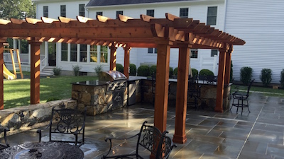 Outdoor-Kitchen-Island-Beneath-Pergola-in-Backyard.jpg & Patio Designs Part 4: Ten Facts About Outdoor Kitchen Islands ...