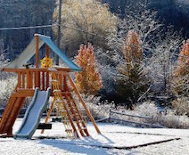 Using Your Backyard Playground Set During the Off Season