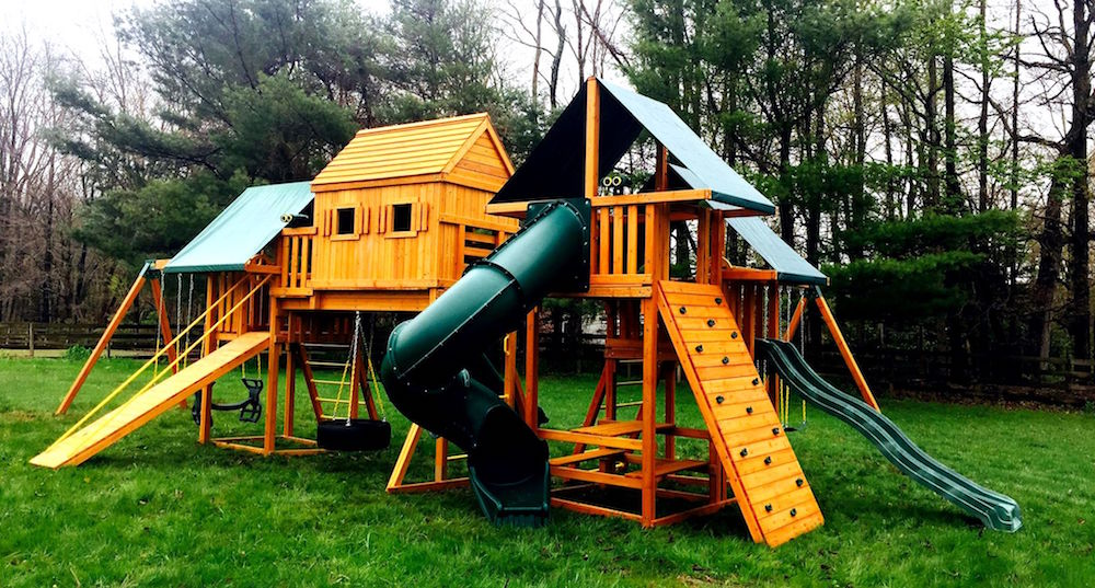 Imagination Large Wooden Swing Set from Best in Backyards