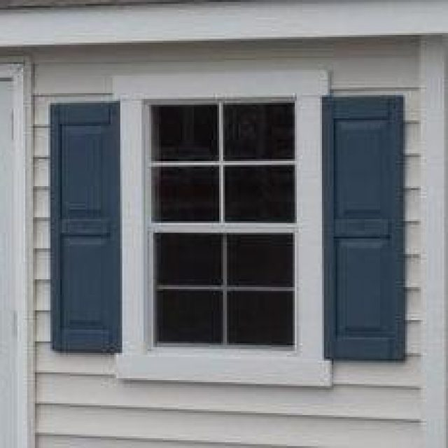 24x36 Standard Window with Raised Panel Shutters