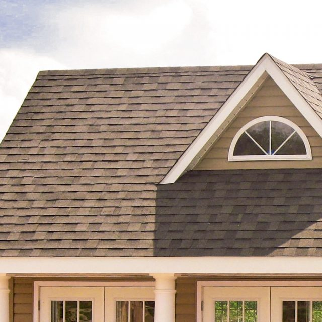 architectural shingle roof on new pool house