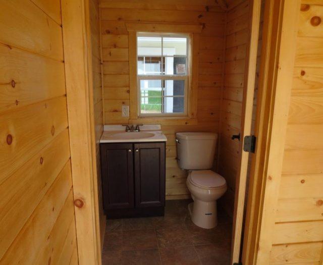 pool cabana bathroom installation