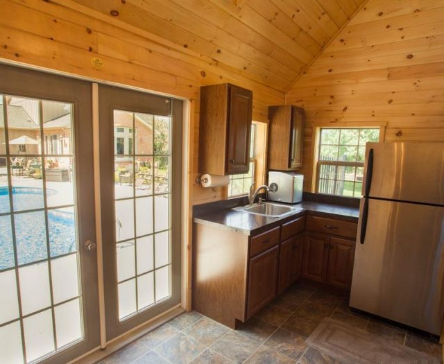 pool house kitchen installation
