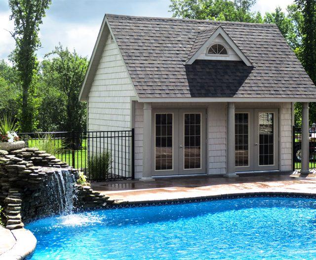 pool house door installation