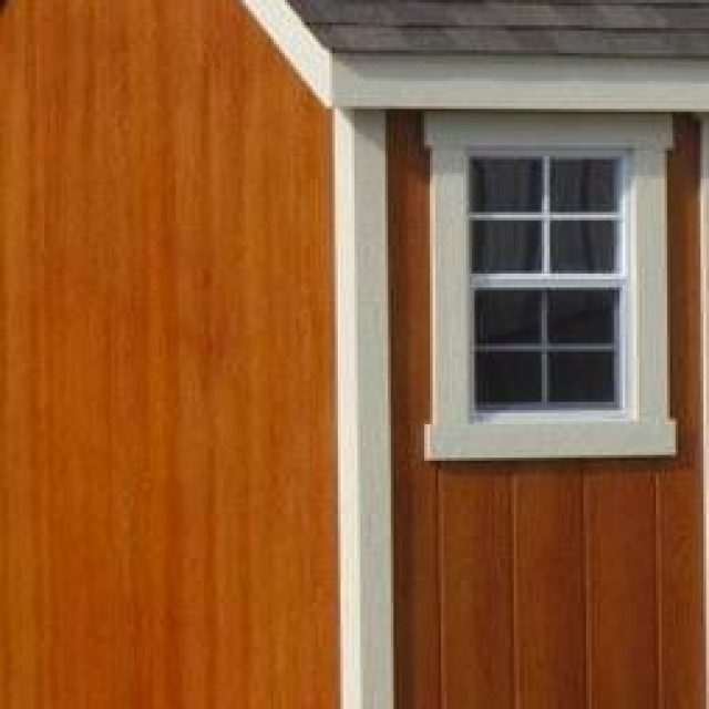 red stained d-temp siding on new pool house