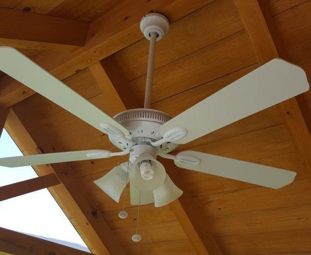 timberframe and ceiling fan