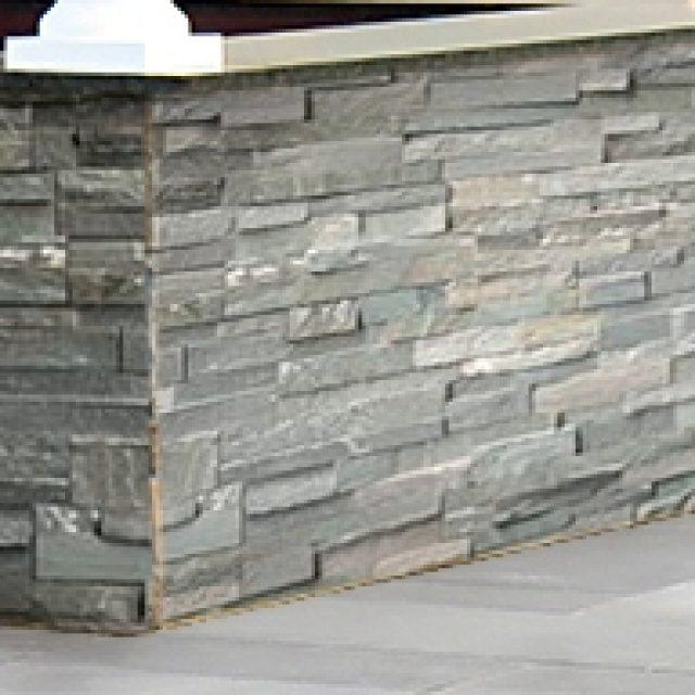stone veneer siding for pool house