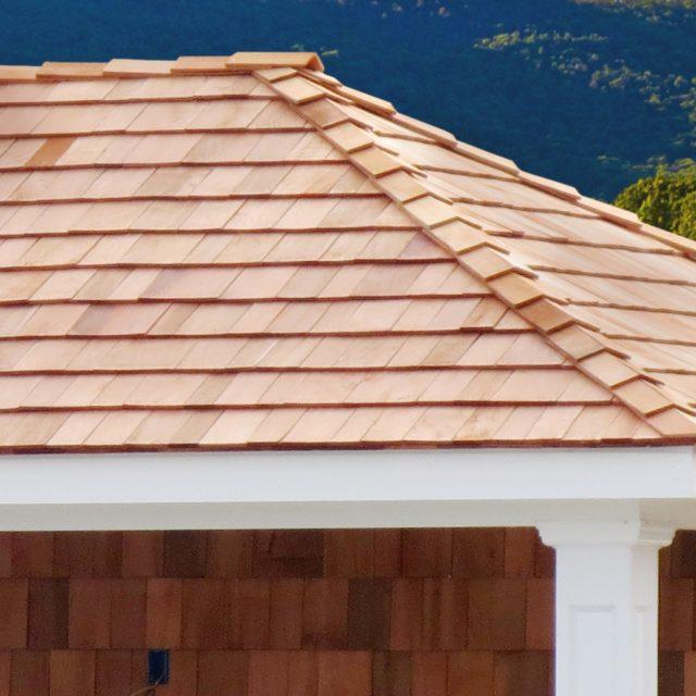 cedar shake roof for pool cabana