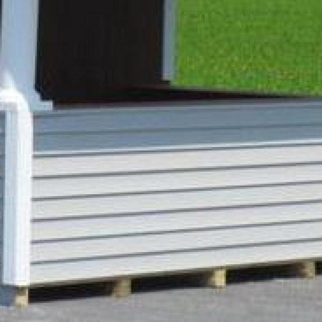 white vinyl siding bar front for pool houses