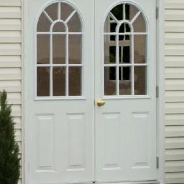 double house door for pool house