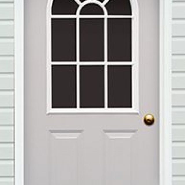 11-LITE ARCHED GLASS PREHUNG DOOR