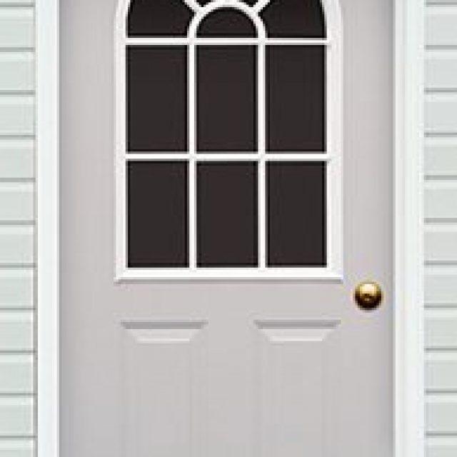 11-LITE ARCHED GLASS PREHUNG DOOR