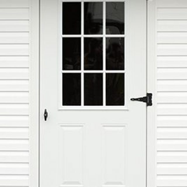 9-LITE GLASS STEEL DOOR