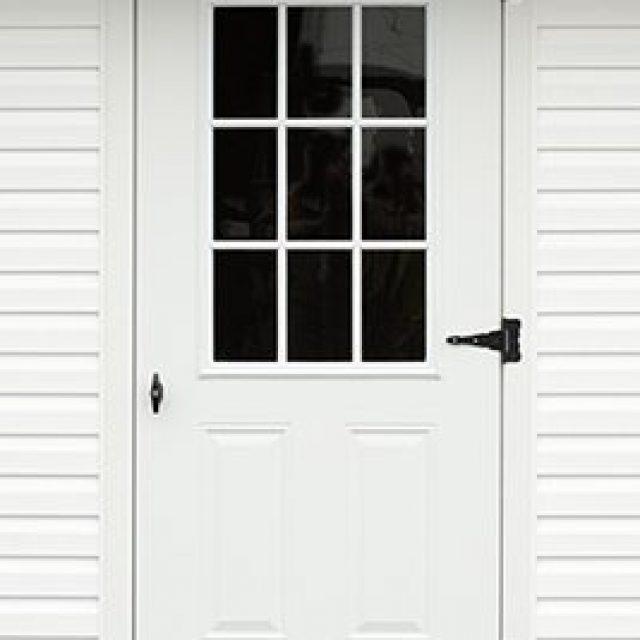9-LITE GLASS STEEL DOOR