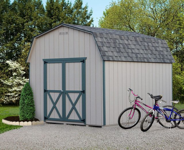 Backyard 6' Wall Barn Wooden Shed
