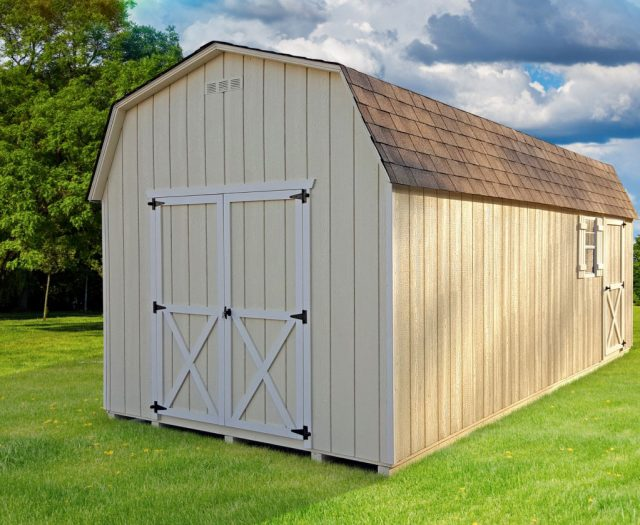 Backyard Dutch Barn 10x20 Storage Shed with Doors and Windows