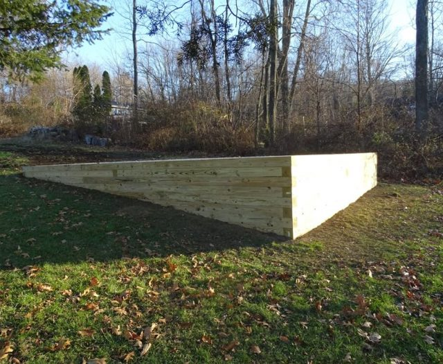 Complete Shed Pad on a Hill before Shed Installed
