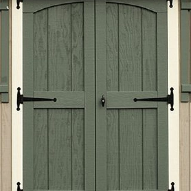 DELUXE DOUBLE DOOR WITH ARCH TRIM
