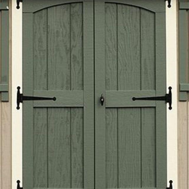 DELUXE DOUBLE DOOR WITH ARCH TRIM