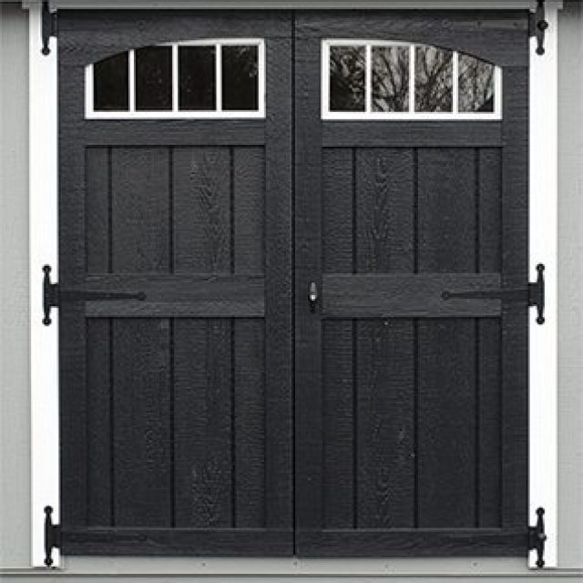 DELUXE DOUBLE DOOR WITH ARCH TRIM & TRANSOMS