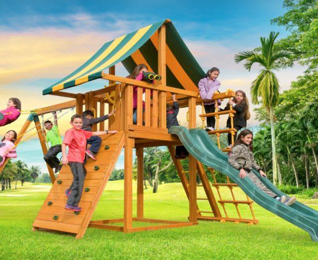 Dream Wood Swing Set