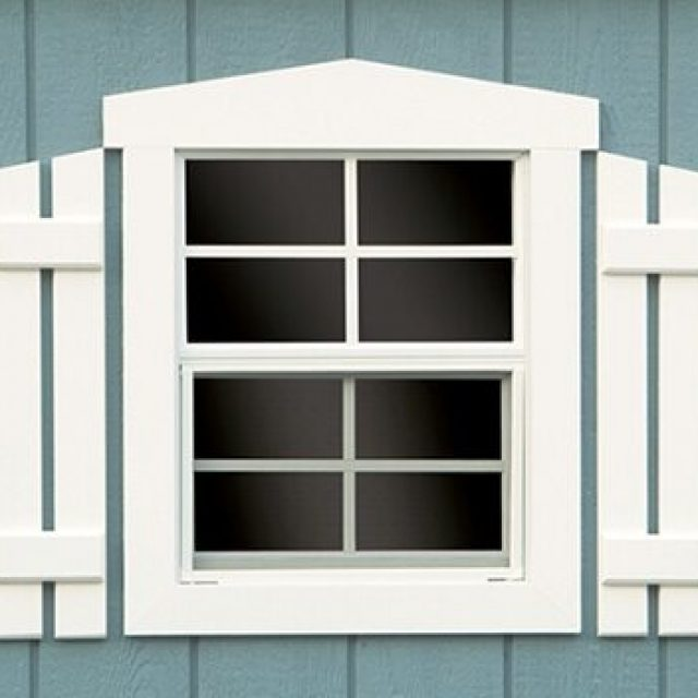 FANCY WINDOW TRIM AND SHUTTERS