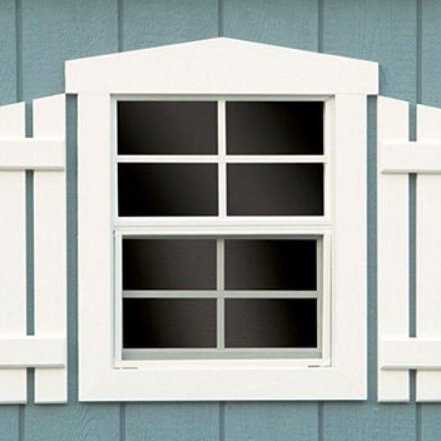 FANCY WINDOW TRIM AND SHUTTERS