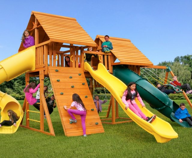 Fantasy Kids Backyard Jungle Gym E