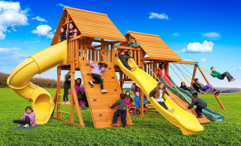 Fantasy Wooden Playset   Backyard Swing Set   NY & CT