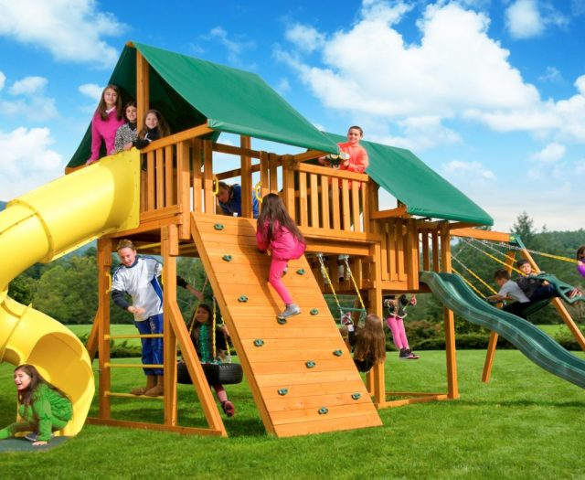 Fantasy Kids Backyard Swing Set A