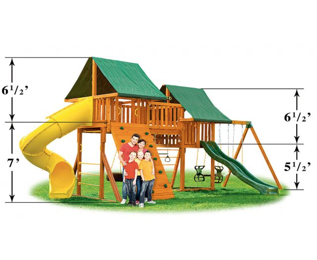 Fantasy #A Wooden Playset