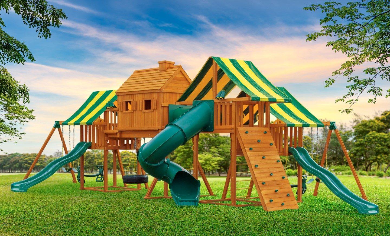 Imagination Cedar Playset | Swingset | NY & CT