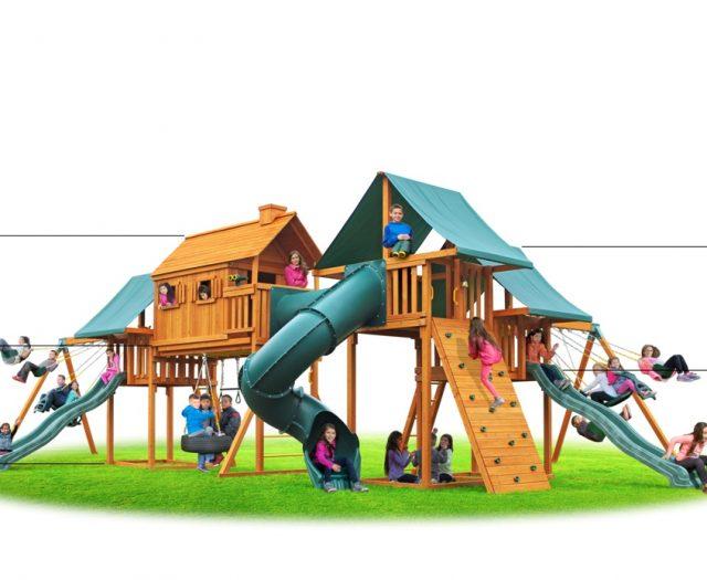 Imagination Cedar Playset