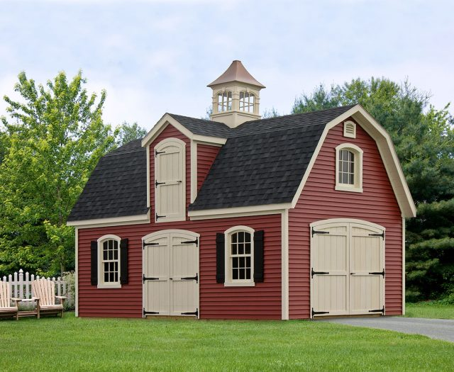 Liberty Dutch Barn Style 2 Story 1 Car Garage with Cupola
