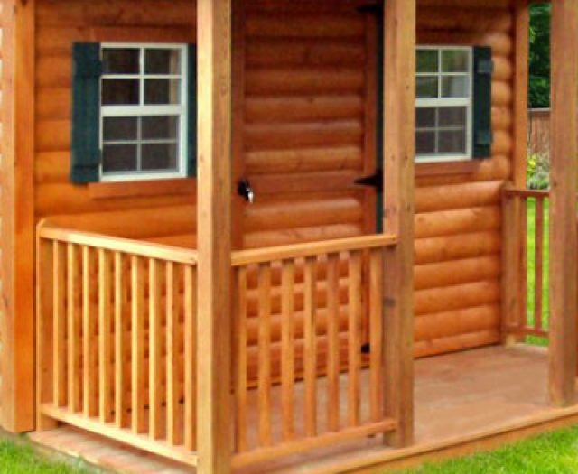 Log-Sided Cabin Playhouse