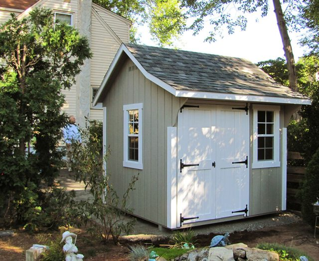 Small Elite Cape Shed in Wood with With Double Doors and Windows in a Garden Hideaway