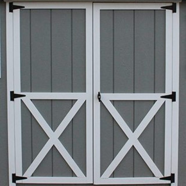 STANDARD DOUBLE DOOR WITH CROSS BUCK TRIM