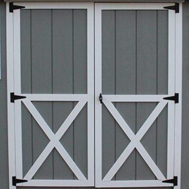 STANDARD DOUBLE DOOR WITH CROSS BUCK TRIM