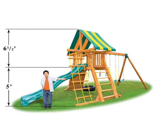 Supremescape Wooden Swing Set