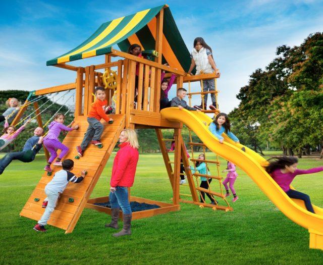 Ultimate Cedar Swing Set