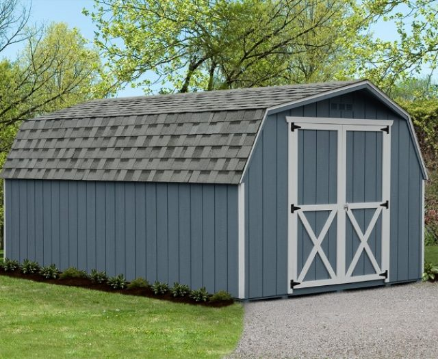 Backyard Mini Barn Wood