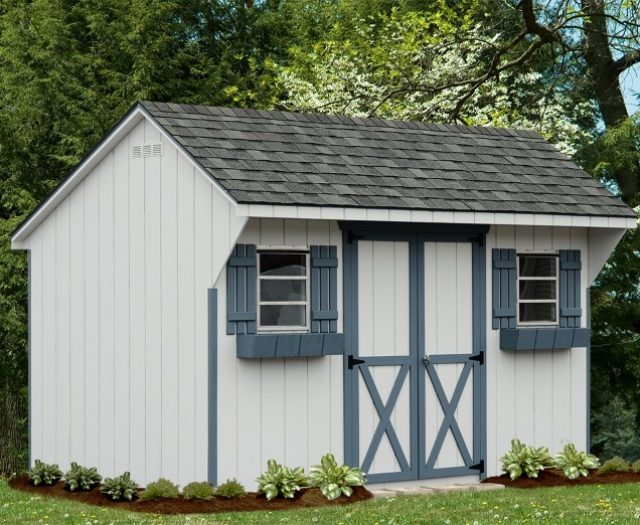 Backyard Quaker Decorative Storage Shed with Flower Boxes
