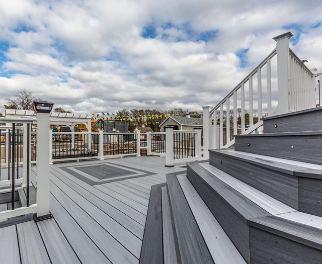 Composite Decks and Stairs on Display at Best in Backyards Mahopac