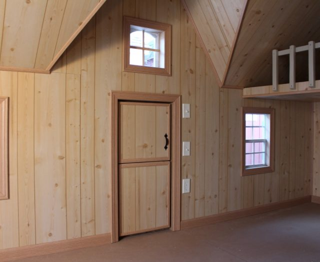 interior of cottage playhouse with loft