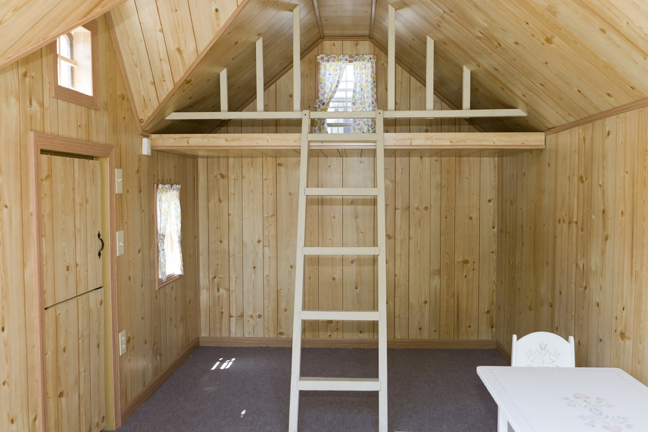 kids playhouse lofts with ladders