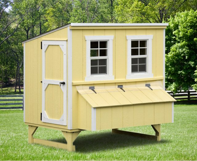Lean-to Quaker Chicken Coop