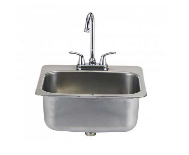 Large Stainless Steel Sink with Faucet