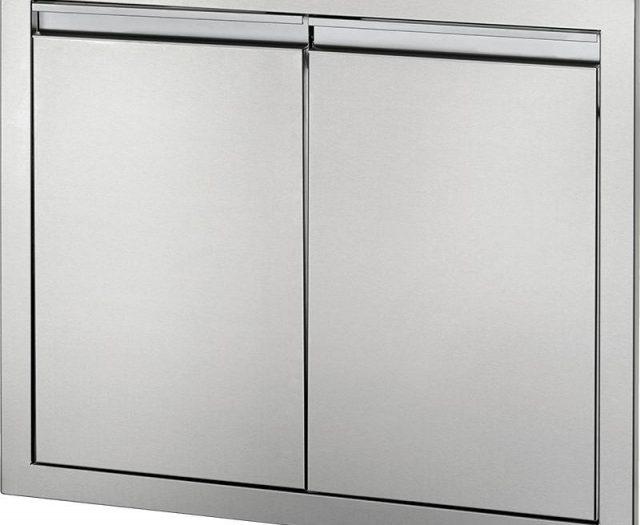 Medium Stainless Steel Double Door Set