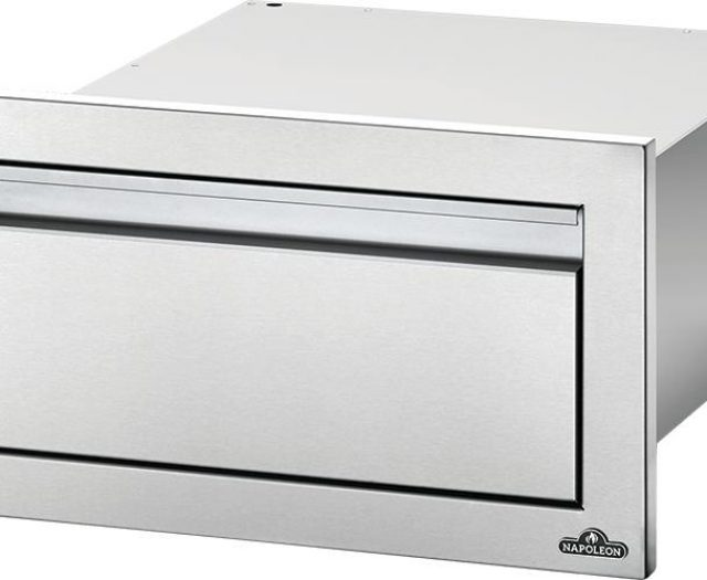 Flat Stainless Steel Built-in Drawer Set